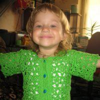 Жакет для девочки «зеленый звездопад»