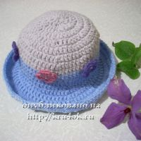 Детская шляпка с цветочками