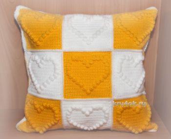 Декоративная подушка для дома, вязание от Роксаны