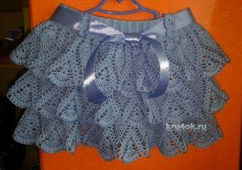 Мастер - класс по вязанию юбки для девочки крючком