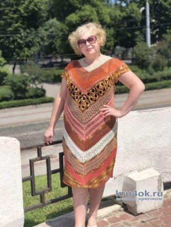 Вязаное женское платье. Работа Аллы