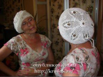 Вязаный летний берет – работа Татьяны Беленькой (Tonika)