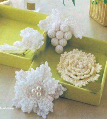 Вязание цветов крючком.