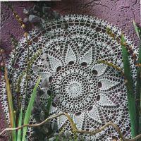Салфетка крючком, популярная схема вязания