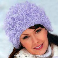 Теплая шапочка с вытянутыми петлями