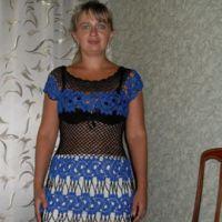 Вязаное платье — работа Людмилы Антипенко