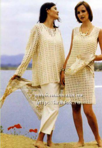 Летнее платье для начинающих. Вязание крючком.