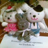 Семейство кроликов по мотивам амигуруми «Китти»