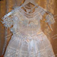 Новогодний костюм «Снежинка», связанный крючком