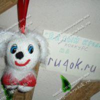 Вязаная игрушка — Зайка Лили