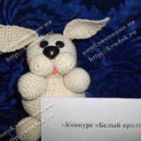 Белый кролик – работа Макешиной Насти