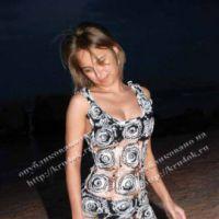 Вязаное летнее платье — работы Анны