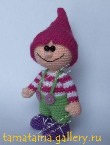 Схемы вязания игрушки Гном Мышиный зубик
