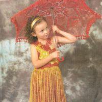 Детское платье и зонт