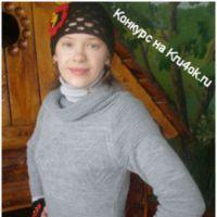 Вязаный комплект шапка + митенки  с украшением «Красный мак»
