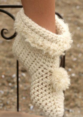 Тапочки – носки. Вязание